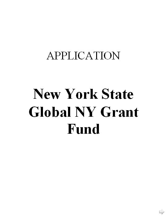 GlobalNY Grant Application Form